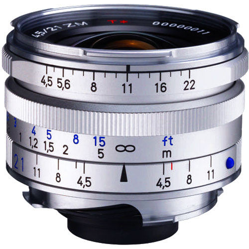 Carl Zeiss C Biogon T* ZM 21mm f/4.5 for Leica M Silver Lens