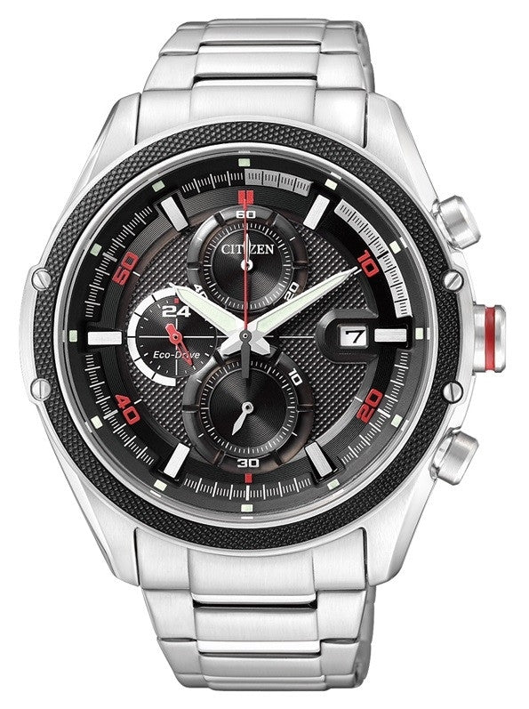 Citizen Eco-Drive Chronograph Sports CA0120-51E Watch (New with Tags)