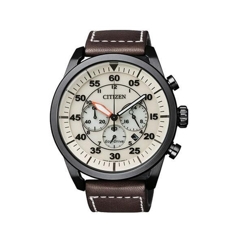 Citizen Eco Drive Aviator CA4215-04W Watch (New with Tags)