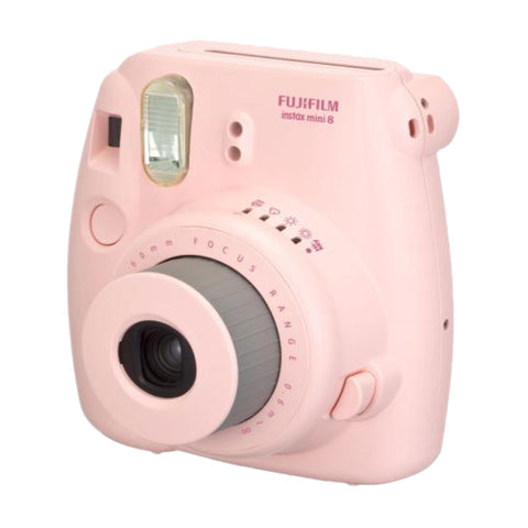Fuji Film Instax Mini 8 Pink Instant Camera with Instax Mini (Inside Out) Photo Paper