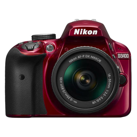 Nikon D3400 Red Digital SLR Camera with 18-55mm VR Lens