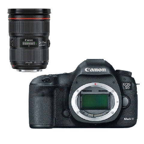 Canon EOS 5D Mark III Kit with EF 24-70mm f/2.8L II USM Lens (Black)