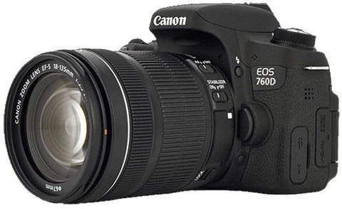 Canon EOS 760D with EF-S 18-135mm f/3.5-5.6 IS STM Lens Black Digital SLR Camera