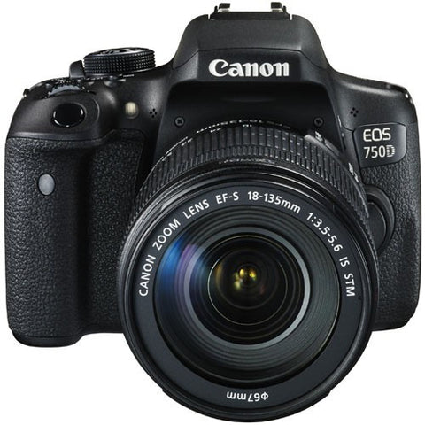 Canon EOS 750D with 18-135mm F/3.5-5.6 IS STM Black Digital SLR Camera