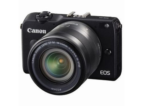 Canon EOS M2 with 22mm, 11-22mm, 18-55mm and 90EX Flash Black Digital SLR Camera