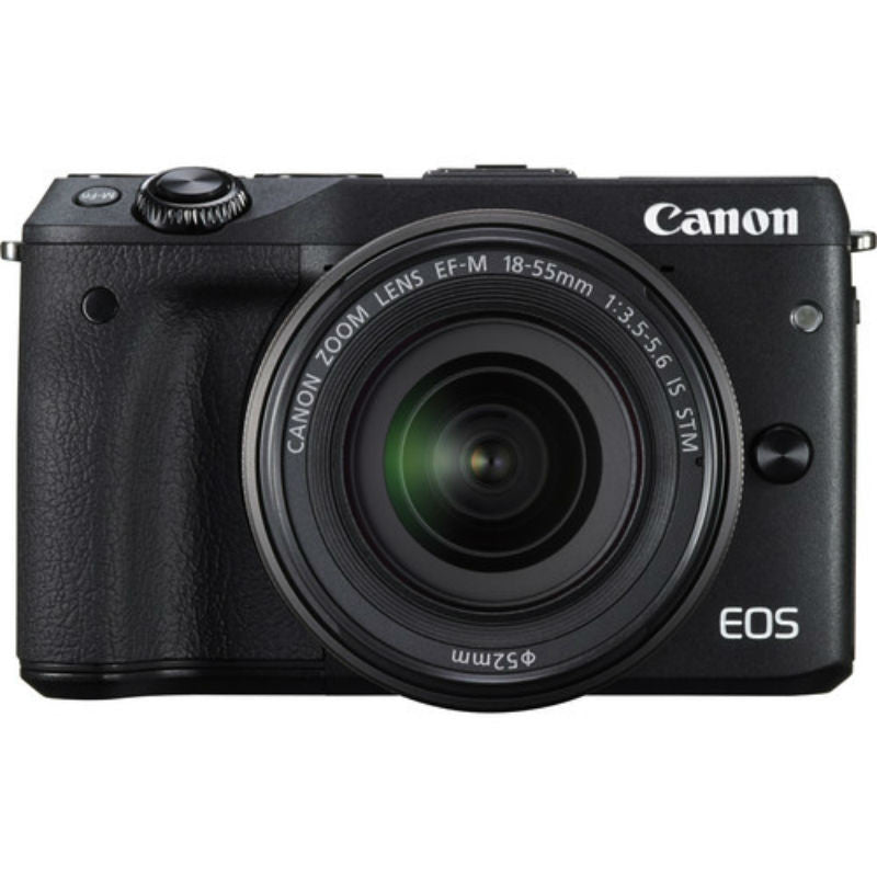 Canon EOS M3 with EF-M 15-45mm f/3.5-6.3 IS STM Lens Black