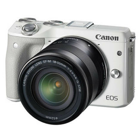 Canon EOS M3 with 15-45mm White Digital SLR Camera