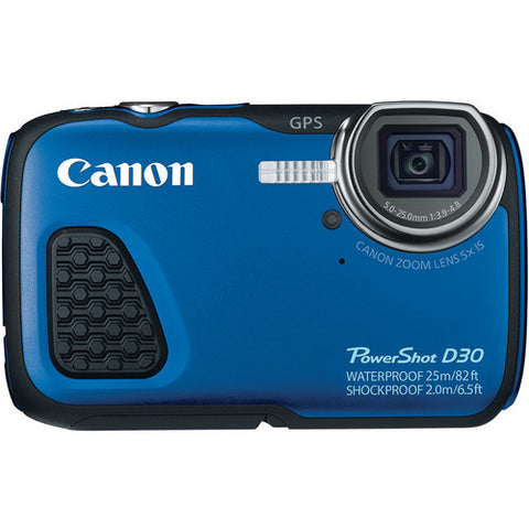 Canon PowerShot D30 Blue Waterproof Digital Camera