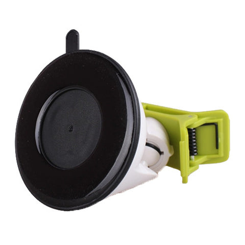 Universal Car Suction Mount Smartphone and GPS Holder Green