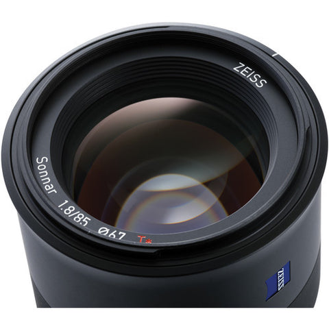 Carl Zeiss Batis 85mm f/1.8 for Sony E-mount Black Lens