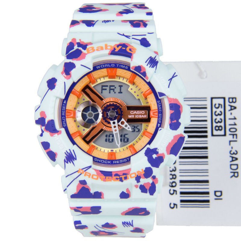 Casio Baby-G Flower Leopard BA-110FL-3A Watch (New with Tags)