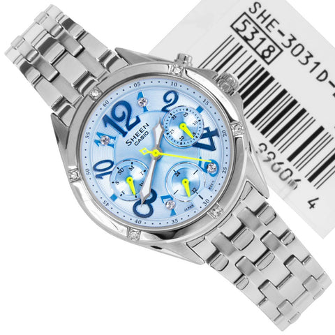 Casio Sheen Rhinestones SHE-3031D-2A Watch (New with Tags)