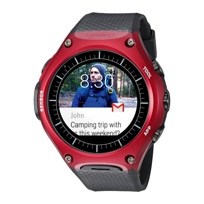 Casio WSD-F10 Outdoor Smart Watch (Red)