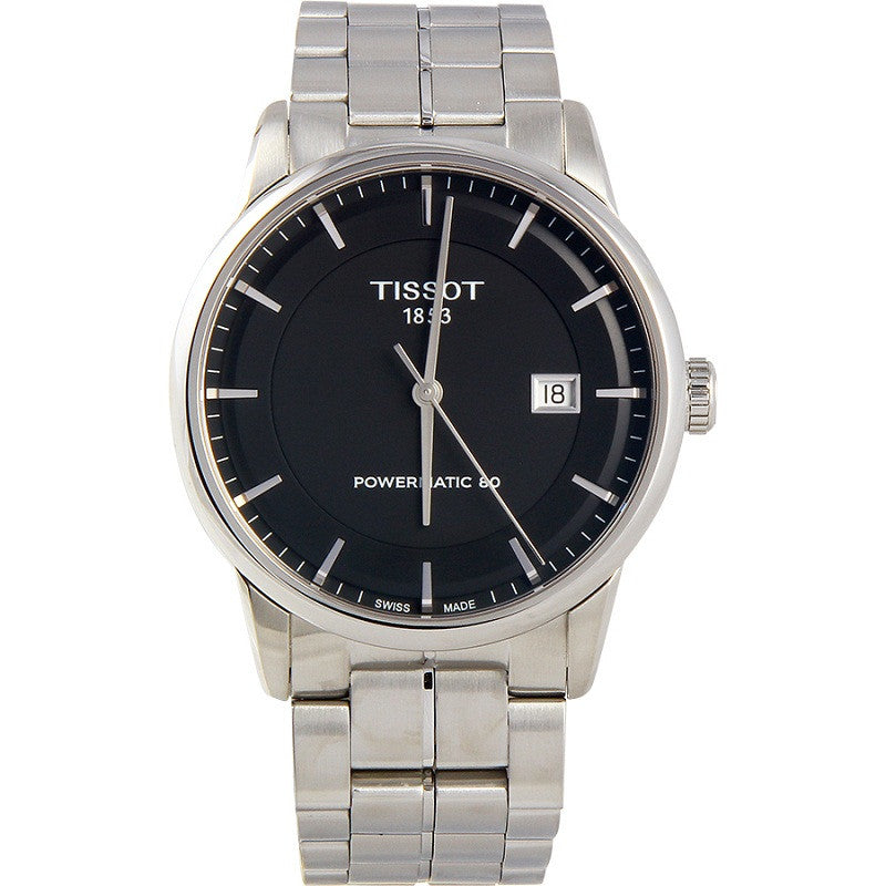 Tissot T-Classic T0864071105100 Powermatic 80 Automatic Black Dial Stainless Steel Mens Watch  (New with Tags)