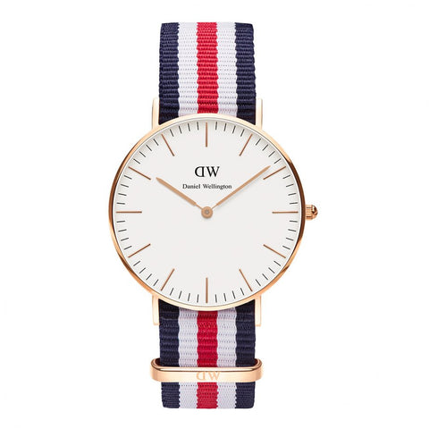 Daniel Wellington Canterbury NATO Analog 0502DW Watch (New with Tags)