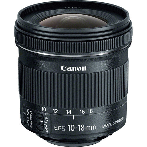 Canon EF-S 10-18mm f4.5-5.6 IS STM Lens (White Box)