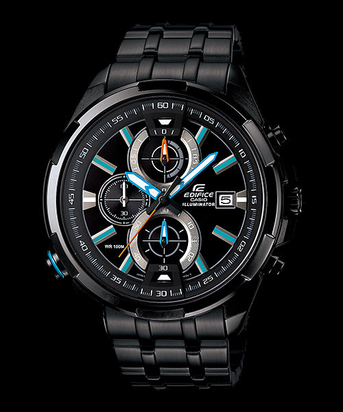Casio Edifice Chronograph EFR-536BK-1A2 Watch (New With Tags)