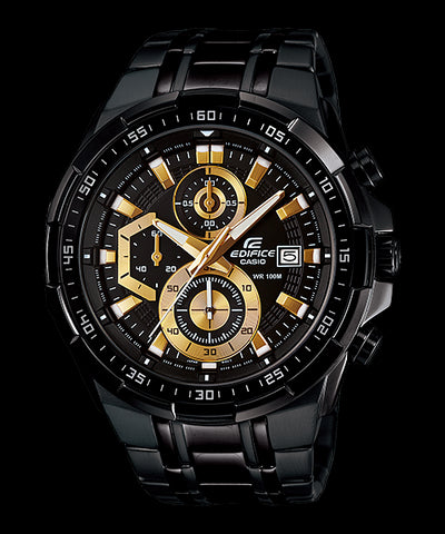 Casio Edifice Chronograph EFR-539BK-1A Watch (New With Tags)