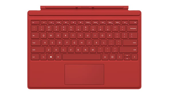 Microsoft Surface Pro 4 Type Keyboard QWERTY Cover R9Q-00083 (Red)