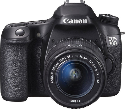 Canon EOS 70D Kit with EF-S 18-55mm f/3.5-5.6 IS STM Lens Black Digital SLR Camera