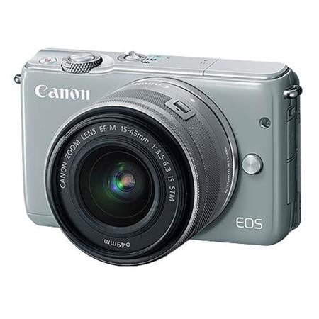 Canon EOS M10 with EF-M 15-45mm f/3.5-6.3 IS STM Lens Grey Digital SLR Camera