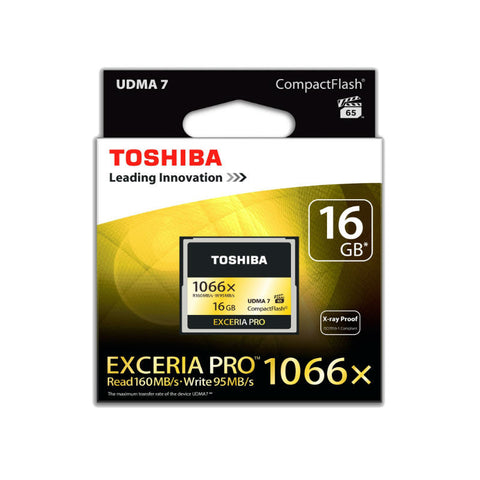 Toshiba Exceria Pro Compact Flash 16GB Memory Card