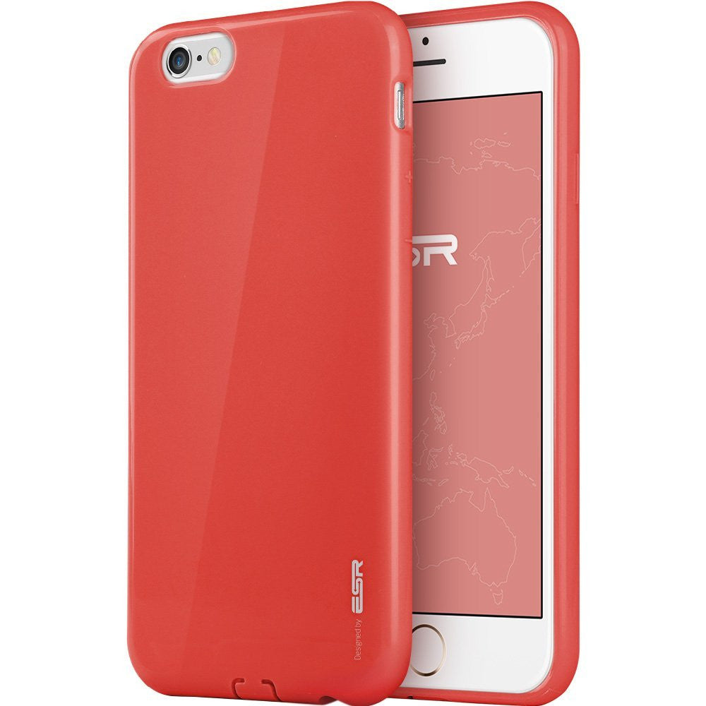 iPhone 6/6s Plus Silicon Color Case (Power Red)