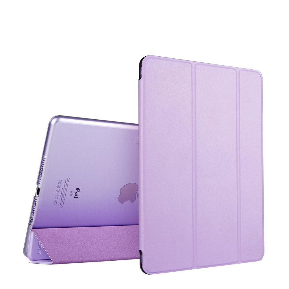 iPad Air 2 Flip cover with Silicon Edge Hard Back Case (Tibetan Purple)