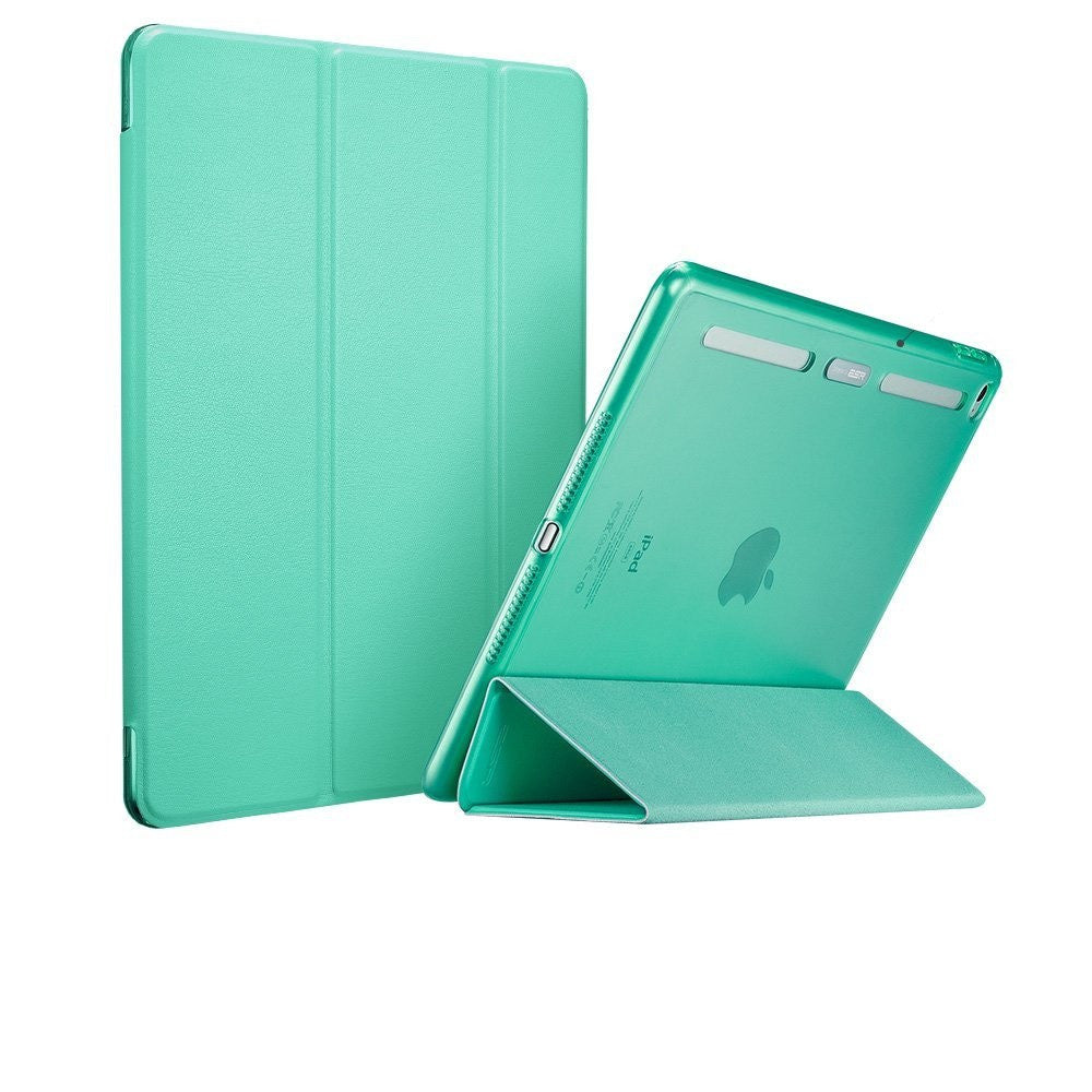 iPad Air 2 Flip cover with Silicon Edge Hard back Case (Emerald Green)