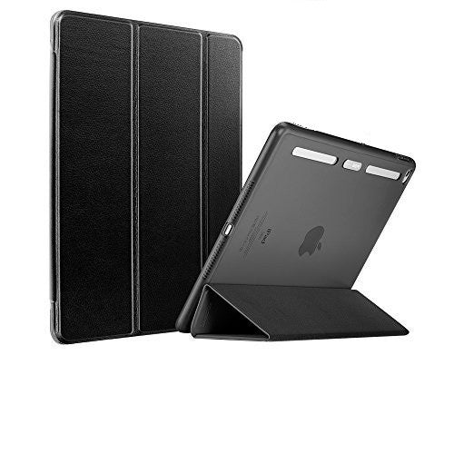 iPad Air 2 Flip cover with Silicon Edge Hard back Case (Quiet Black)