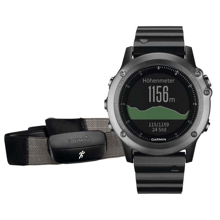 Garmin Fenix 3 Sapphire Performer Bundle with HRM-Run GPS Sport Watch (Gray) 010-01338-26