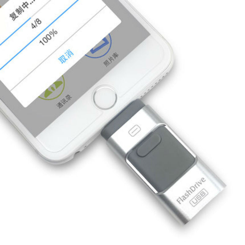 Flash Drive for iPhone/iPad/iPod 64GB (Silver)