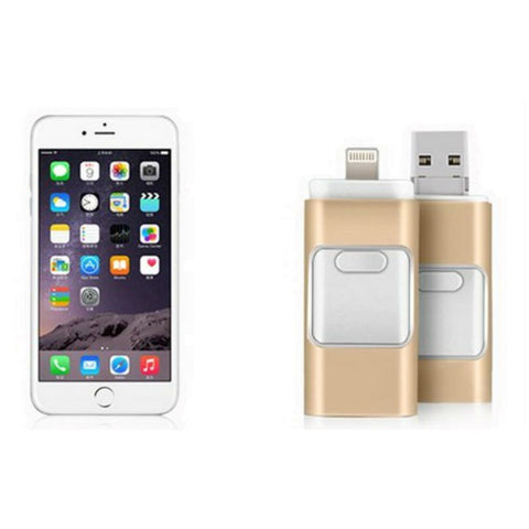 Flash Drive for iPhone/iPad/iPod 64GB (Gold)