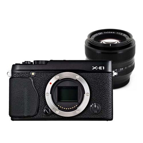 Fujifilm X-E1 Kit with 18-55mm Lens Black Digital SLR Camera
