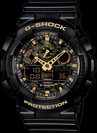 Casio G-Shock Special Color Model GA-100CF-1A9 Watch (New With Tags)