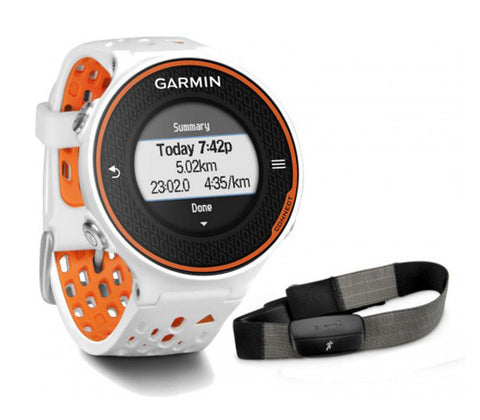 Garmin Forerunner 620 010-01128 Fitness Watch Bundle with HRM-RUN White/Orange