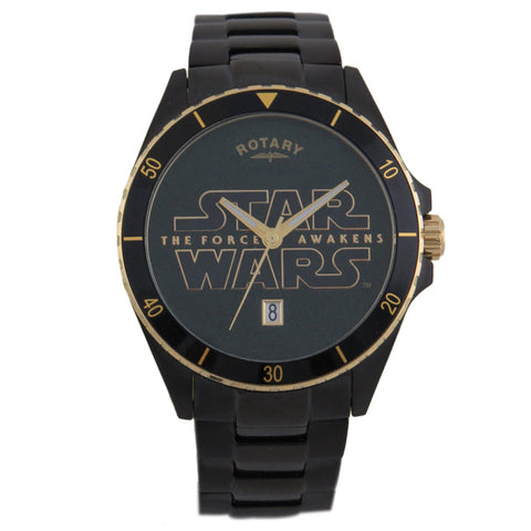 Rotary Star Wars The Force Awakens - Episode VII Collection Star Wars Logo RY7007D02 Titanium Watch (New with Tags)