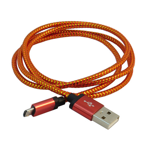 Micro USB 1m Cable (Red)