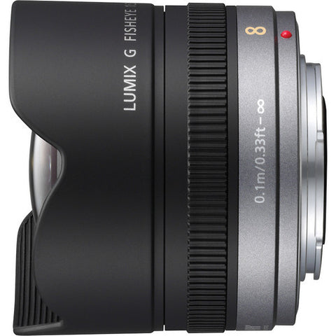 Panasonic Lumix G Fisheye 8mm f3.5 Black Lens