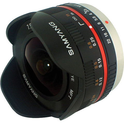 Samyang 7.5mm 1:3.5 UMC Fish-eye MFT Black (M3/4) Lens