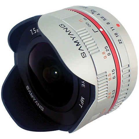Samyang 7.5mm 1:3.5 UMC Fish-eye MFT Silver (M3/4) Lens