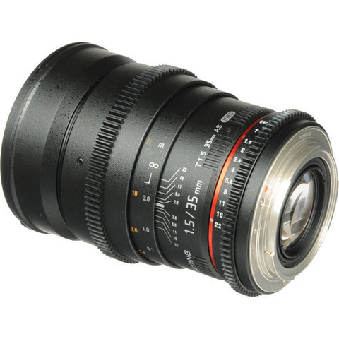 Samyang 35mm T1.5 AS UMC VDSLR (Canon) Lens