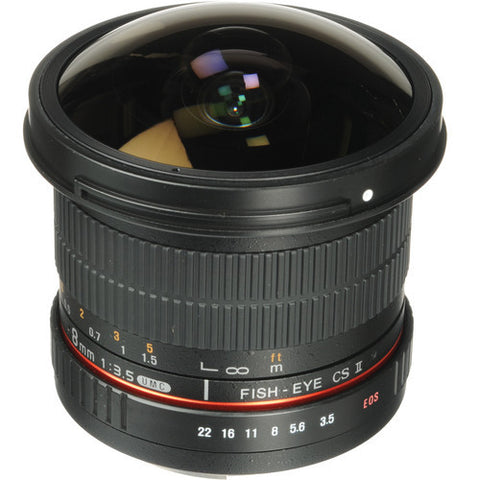 Samyang 8mm f/3.5 Fish-eye CS II with hood (Pentax) Lens