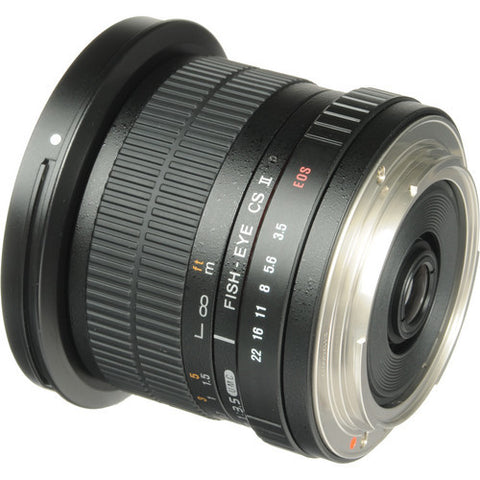 Samyang 8mm f/3.5 Fish-eye CS II with hood (Canon) Lens