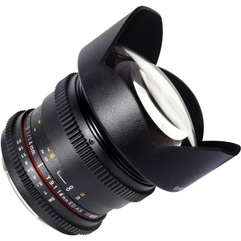 Samyang 14mm T3.1 ED AS IF UMC VDSLR Lens for 3/4 Mount