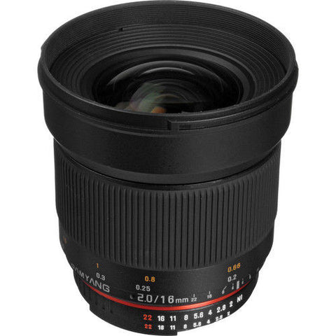 Samyang 16mm f/2.0 ED AS UMC CS Lens (Canon)