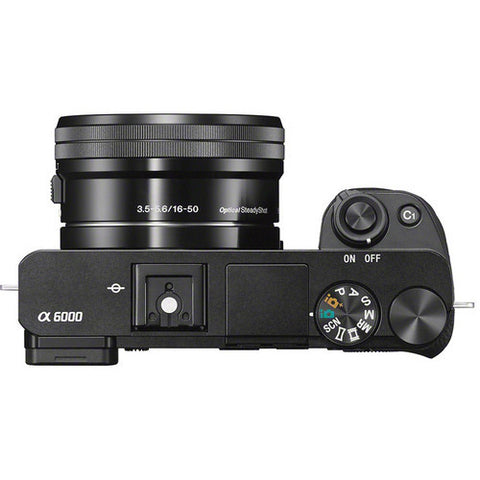 Sony Alpha A6000 ILCE-6000L with 16-50mm Lens Black Mirrorless Digital Camera