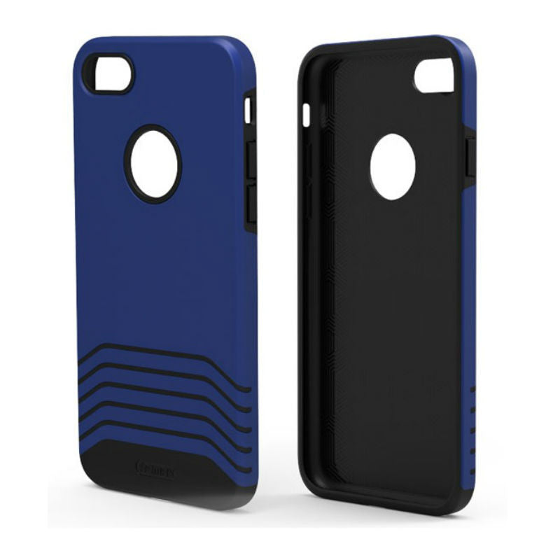 Soft and Hard Protective Shell Matte Case 5.5 inch for iPhone 7 Plus (Blue)
