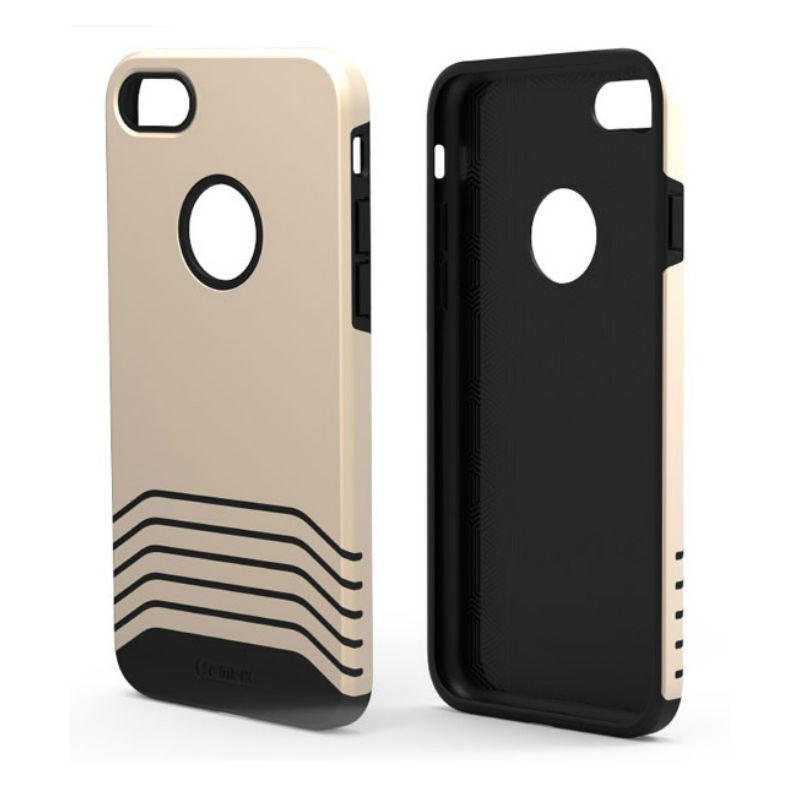 Soft and Hard Protective Shell Matte Case 5.5 inch for iPhone 7 Plus (Champagne)
