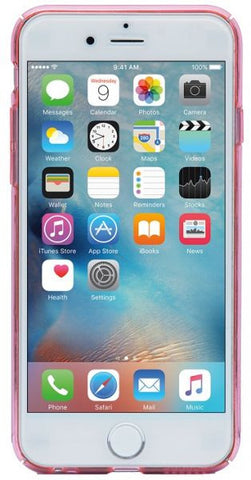 Odoyo Clear Edge Protective Snap Case for iPhone 6S Plus PH3336 (Crystal Pink)